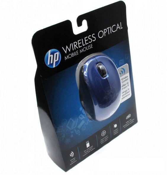 HP Wireless Optical (Blue) Mouse